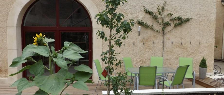 Jardin du gite du toilier à Thillot 55