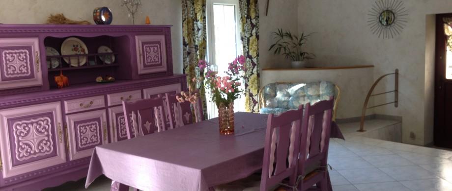 Gîte des Roises à Thillot en Meuse - salle à manger