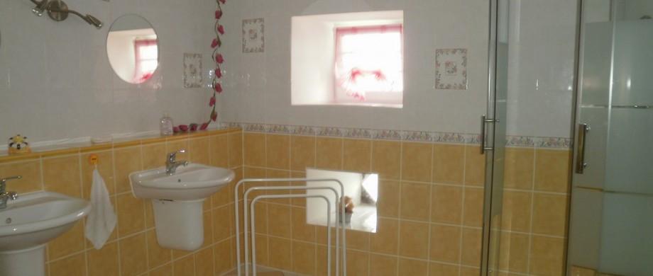 Salle de bain du gîte des côtes de thillot 55